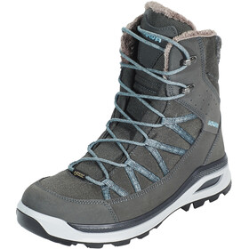 Lowa Montreal GTX Mid Chaussures pour temps froid Femme, anthracite/blue grey